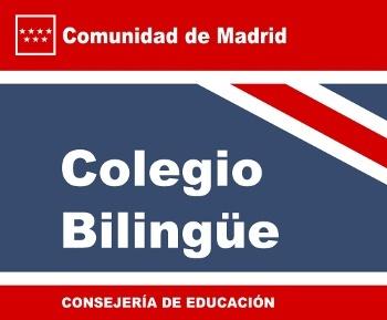 Logotipo educación bilingüe Comunidad de Madrid